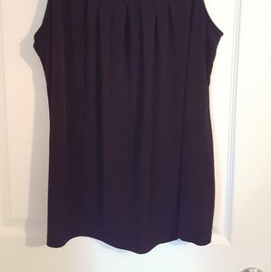Fashion Bug Tops - Sleeveless black blouse, sz XL